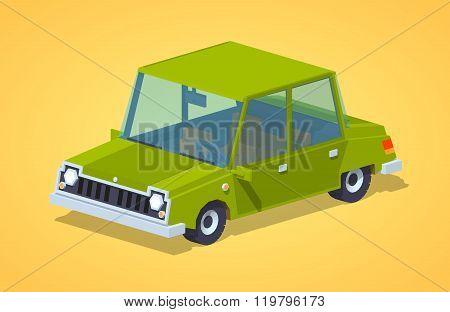 Old green sedan