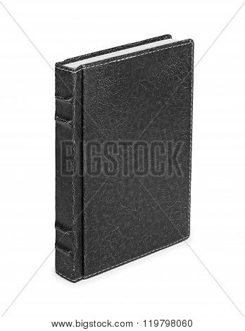 Old Book Cover Is Isolated On A White Background