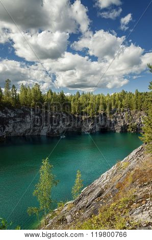 Marble canyon in the summer.