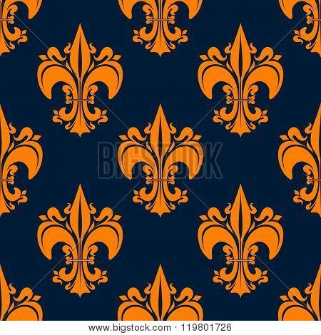 Elegant french seamless fleur-de-lis pattern