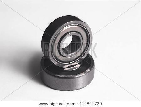 Ball bearing on white