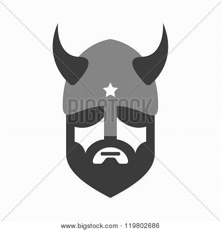 Viking head logo vector design. Head of warrior symbol or icon