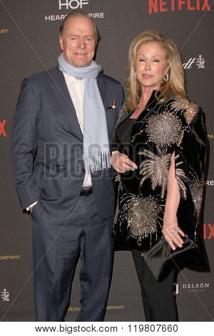 Rick Hiltoni and Kathy Hilton arrive at the Weinstein Company and Netflix 2016 Golden Globes After Party on Sunday, January 10, 2016 at the Beverly Hilton Hotel in Beverly Hills, CA.