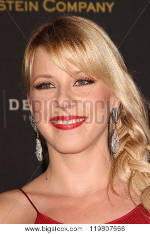 Jodie Sweetin arrives at the Weinstein Company and Netflix 2016 Golden Globes After Party on Sunday, January 10, 2016 at the Beverly Hilton Hotel in Beverly Hills, CA.