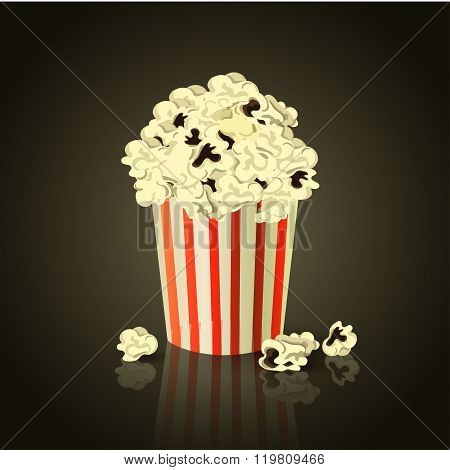 vector illustration of Popcorn box