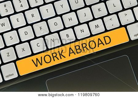 Keyboard Space Bar Button Written Word Work Abroad