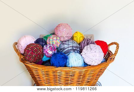 Wool in the basket