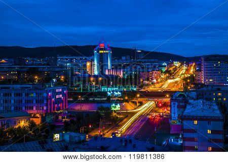 Russia, Buryatia, Ulan-Ude - 23.06.2014: view of the Central part of the city of Ulan-Ude.