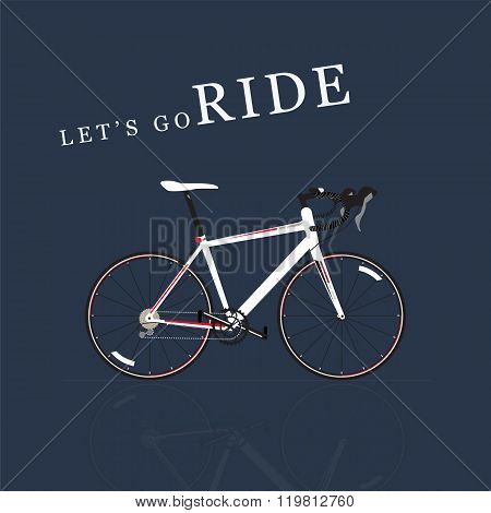 Let's go ride, Bicycle vector illustration