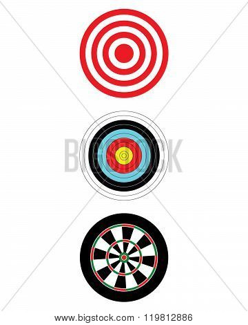 A collection of various targets and bullseyes