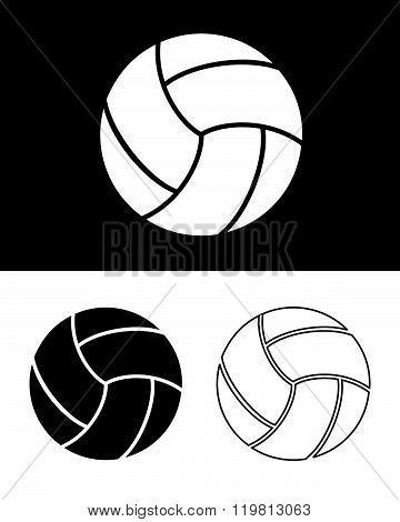 Vector Volleyball Set