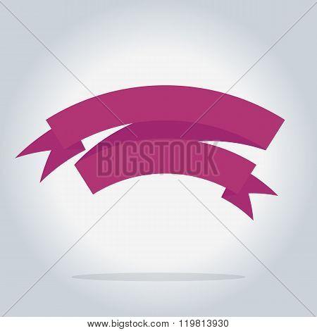 Banner ribbon vector element. Origami banner. Retro banner ribbon. Blank banner ribbon. Abstract ribbon. Isolated banner ribbon in origami style. Banner ribbon icon. Origami ribbon. Ribbon sticker. Origami flat vector icon. Origami banner concept. Ribbon.