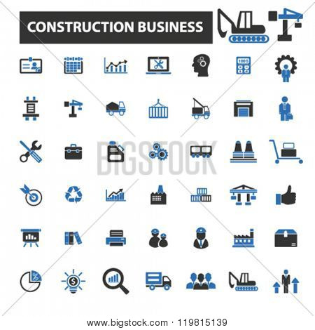 construction business icons, construction business logo, construction business vector, construction business flat illustration, construction business infographics, construction business symbols