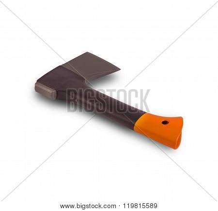 Black sharp small ax in the boot