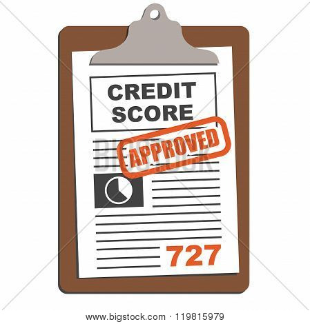 Credit Score Chart or Sheet