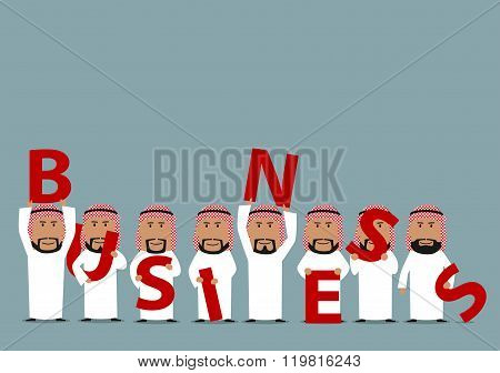 Arab business team presenting a Business