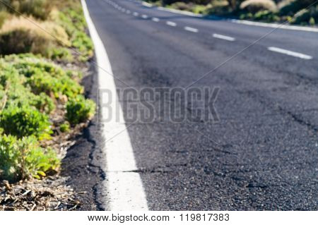 Blurred Image Of Desert Road