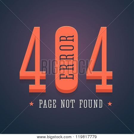 404 error page for website.