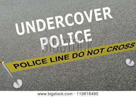 Undercover Police Concept