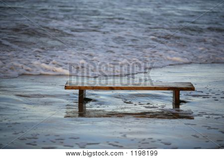 Bench Worth In The Sea