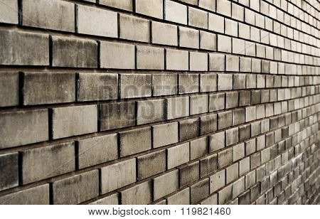 Black Brick Wall With Diminishing Perspective