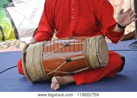 Traditional Malay Gendang or Traditional Malay drum