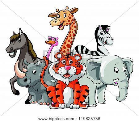 Wild Animal Group Pose
