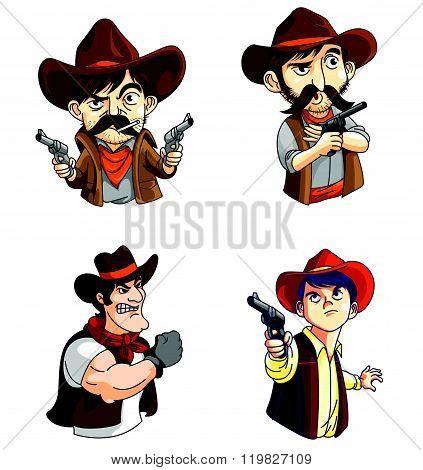 Cowboy Mascot Collection