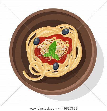 Italian pasta vector illustration.