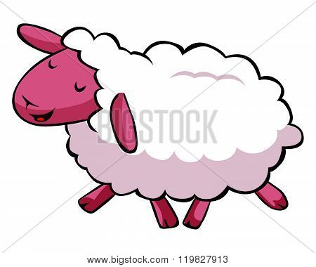 Hapy sheep cartoon