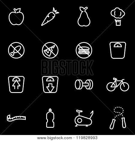 Vector Line Diet Icon Set