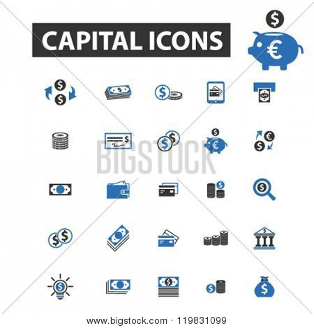 capital icons, capital logo, capital vector, capital flat illustration concept, capital infographics, capital symbols,