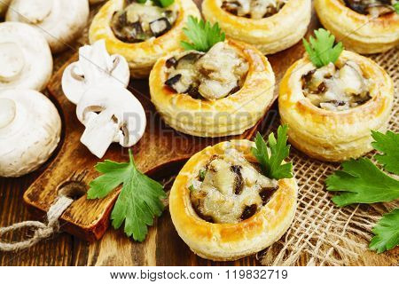 Vol Au Vent With Mushroom Stuffing