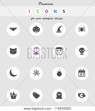 Halloween simply icons
