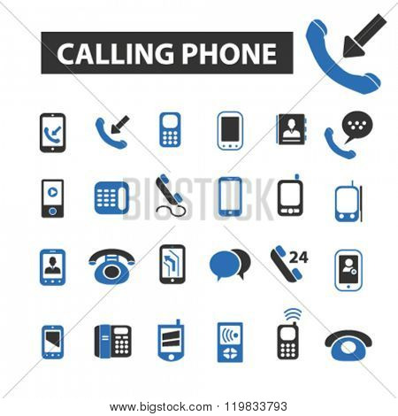 calling phone icons, calling phone logo, calling phone vector, calling phone flat illustration concept, calling phone infographics, calling phone symbols,
