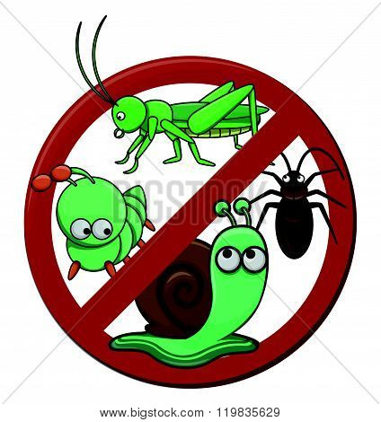 anti pest cartoon illustration isolated white