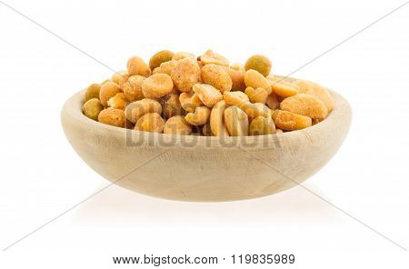 Fresh Mixed Salted Nuts In A Bowl, Peanut Mix