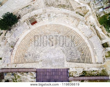 Aerial View Of Ancient Theatre Of Kourion