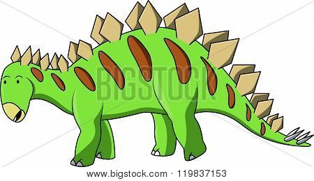 Stegosaur Cartoon Illustration