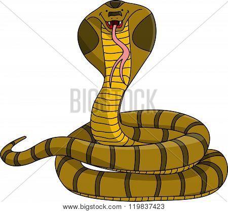 Cobra cartoon illustration