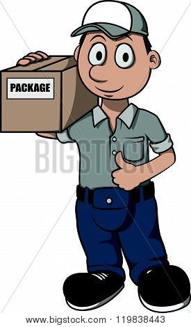 Courier cartoon illustration design
