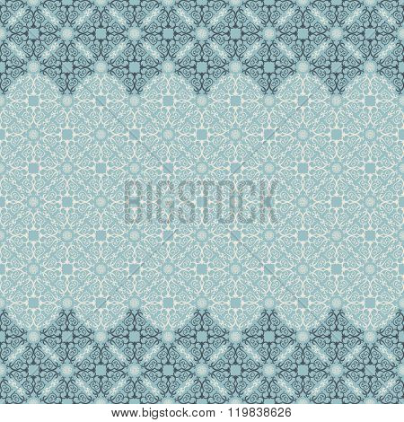 Vector islam pattern border. Seamless pattern arabic ornament. Vintage oriental elements design in Victorian style. Ornamental lace luxury background. Ornate floral decor wallpaper. Seamless texture