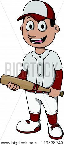 Baseball player cartoon design