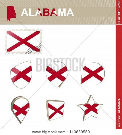 Alabama Flag Set, Flag Set #239