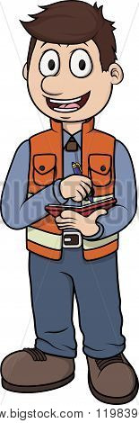 Surveyor vector cartoon illustration design