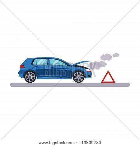 Car and Transportation Breakdown. Vector Illustration