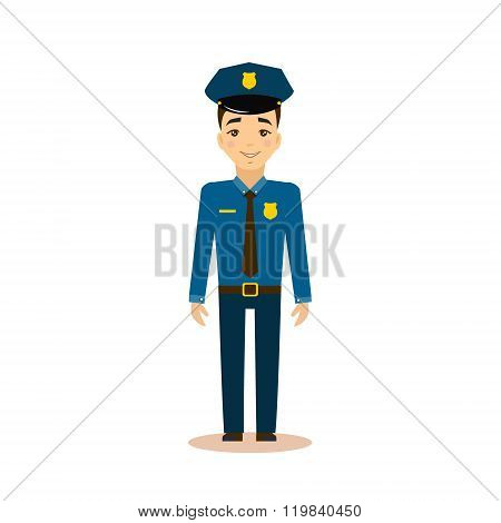 Policeman Vector Illustration.