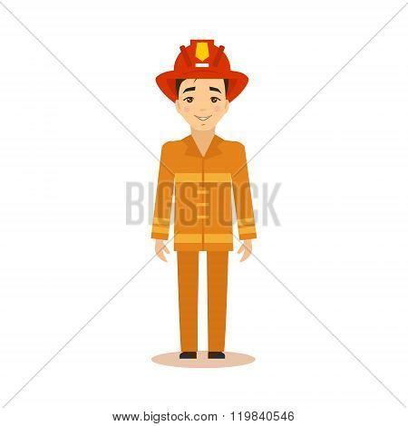 Fireman Vector Illustration.