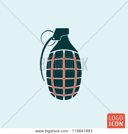 Grenade icon isolated