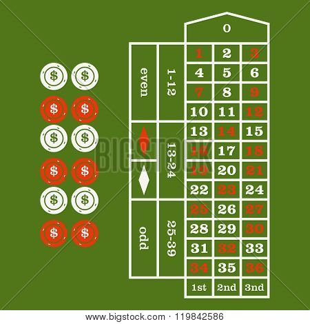 Casino  Design Elements Vector Icons. Casino Games.